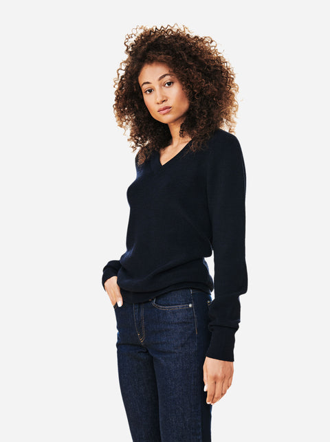 The V-Neck Sweater - Blue
