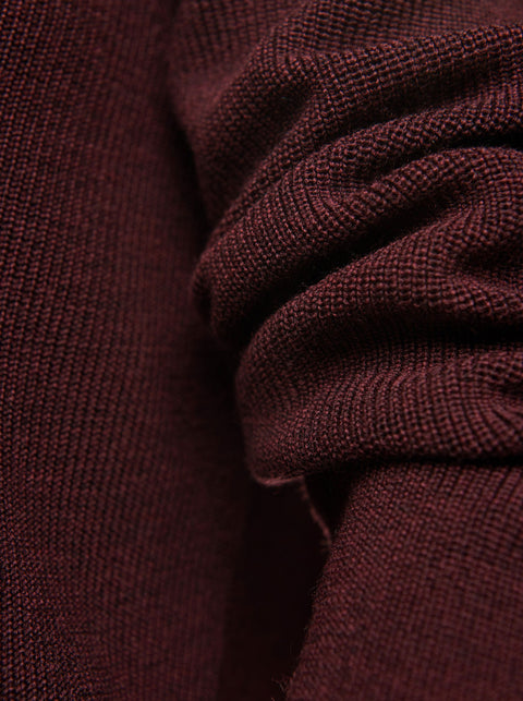 The V-Neck Sweater - Burgundy