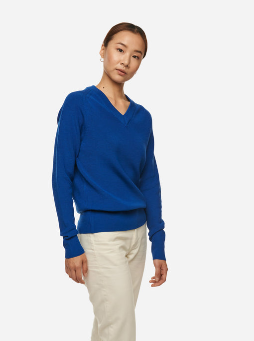 The V-Neck Sweater - Cobalt blue
