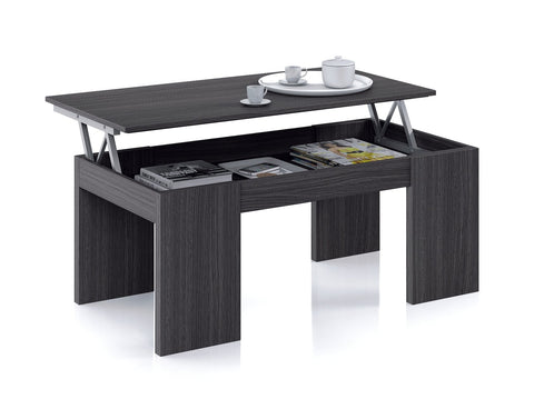 Flow Modern Lift Up Coffee Table In Oak Grey Effect