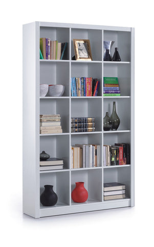 Alto White Gloss Triple Bookcase