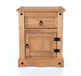 Corona Pine 1 door & 1 drawer Bedside Table