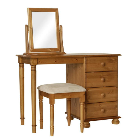 Copenhagen Pine Package - Dressing Table-Stool-Mirror Furniture Set