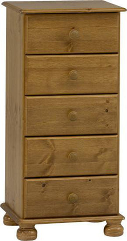 Tall Pine Chest with 5 Drawers