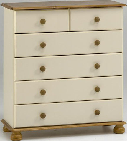 2 Drawers Over 4 Painted Chest