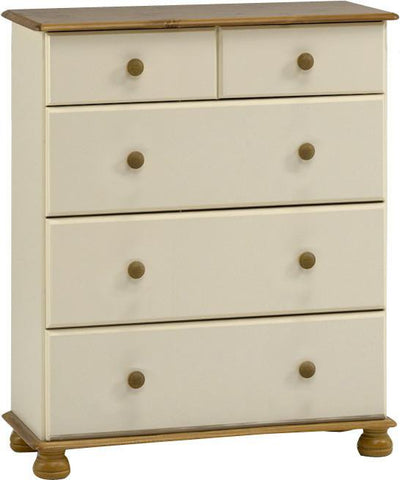 Painted Deep Chest Of Drawers 2 Over 3
