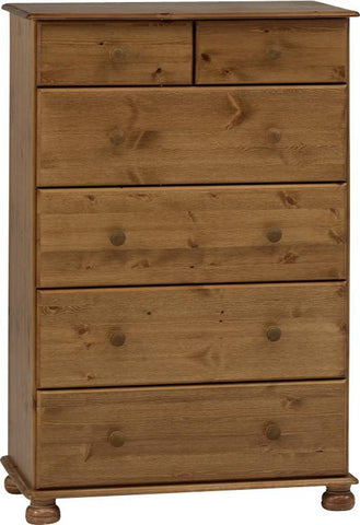 Deep Pine Chest Of Drawers 2 Over 4