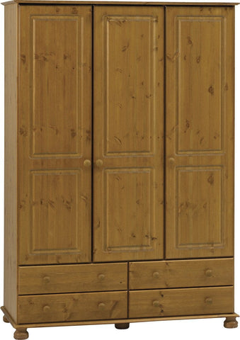 Large 3 Door Wardrobe with Drawers