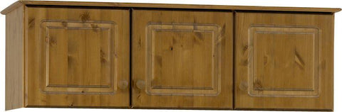 Antique Pine 3 Door Wardrobe Top Box