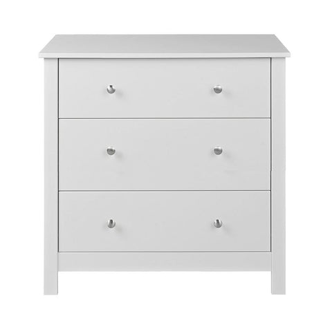 Florence 3 Drawers Chest in White