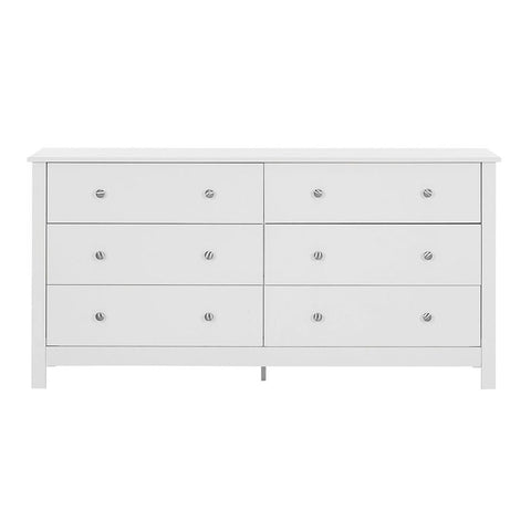 Florence 3+3 Chest Of Drawers in White
