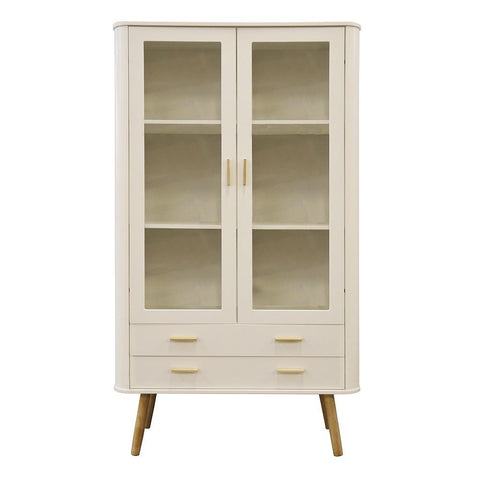 Scandinavian Style Display Cabinet White/Oak