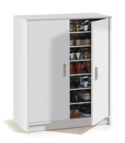 Zap Large Matt White Shoe Cabinet