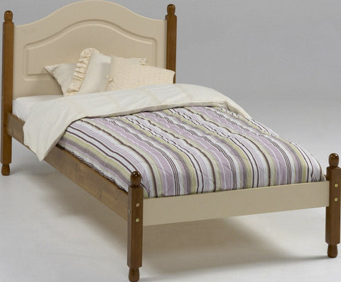 Cream & Pine Single Bed Frame - 3ft