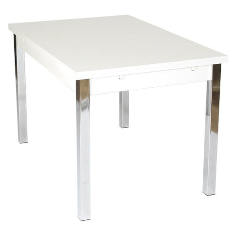 Extending Dining Table 120cm ext to 187cm White