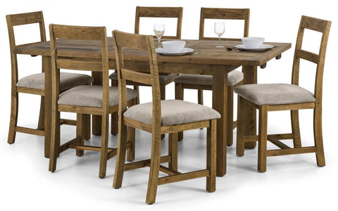 Aspen Rough Sawn Reclaimed Pine Dining Set (With 4 or 6 Chairs)