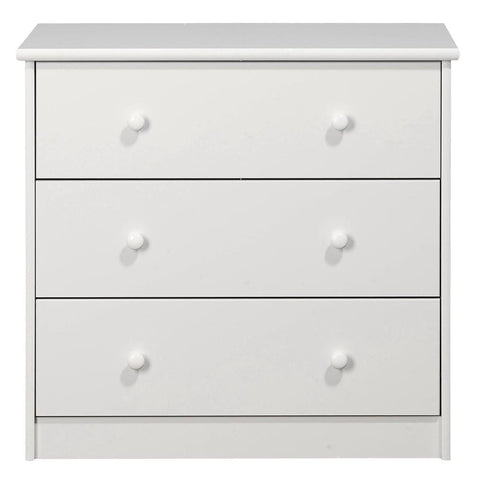KIDS World 3 Drawers Chest White