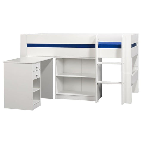 KIDS World Mid Sleeper Bed In White