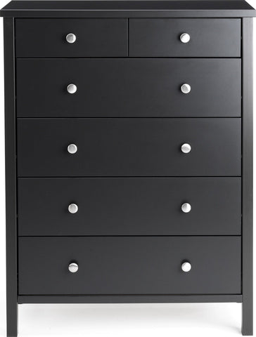 Stockholm 2+4 Drawer Chest - Coffee Black