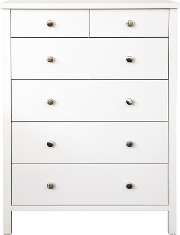 Stockholm 2+4 Drawer Chest - White