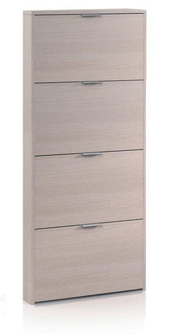 Marv Light Oak Tall Shoe Cabinet