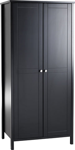 Stockholm 2 Door Wardrobe - Coffee Black