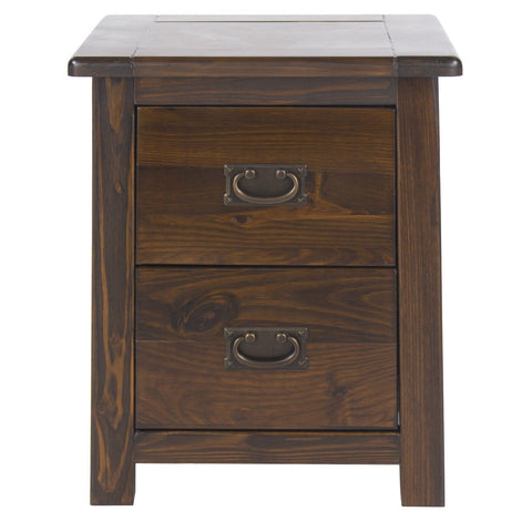 Boston 2 Drawer Bedside Table