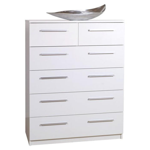Designa 2+4 Chest of Drawers White