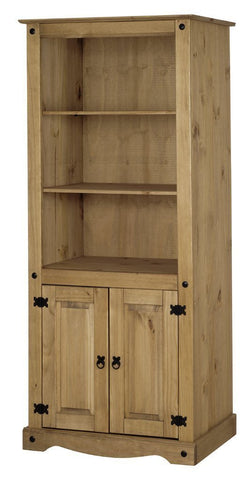Corona Pine Bookcase With 2 Doors