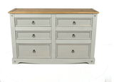 Corona Grey 3+3 Drawer Wide Chest