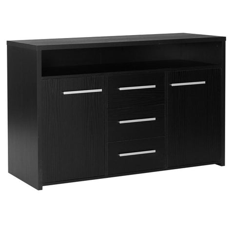 Designa 3 Drawer 2 Door Sideboard Black Ash