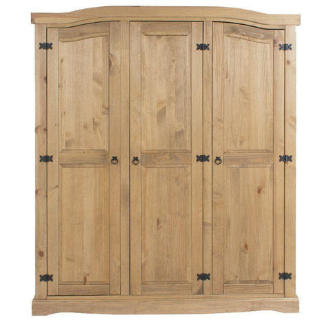 Corona Pine Large 3 Door Wardrobe