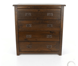 Boston Dark 4 Drawer Chest
