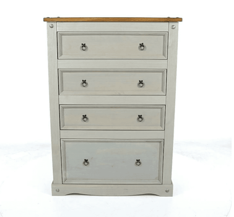Corona Grey 4 Drawer Chest of Drawers