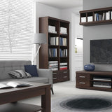 Imperial Wide 4 Drawer TV Cabinet in Dark Mahogany Melamine