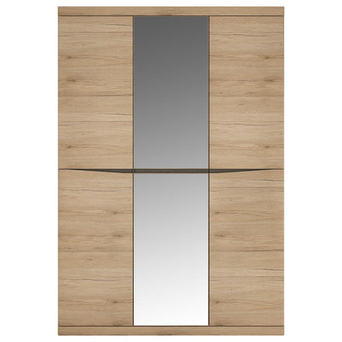 Kensington 3 Door Wardrobe with Centre Mirror doorin Oak