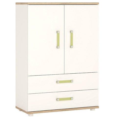 4KIDS 2 door 2 drawer cabinet with lemon handles