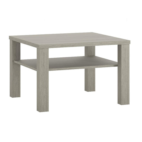 Madras Small Coffee Table with shelf in Champagne Melamine