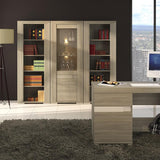 Madras Medium Height 4 Door Cupboard in Champagne Melamine