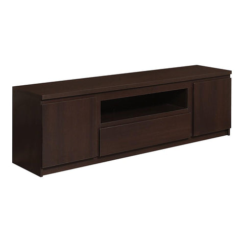 Pello 2 Door 1 Drawer Wide TV Cabinet in Dark Mahogany