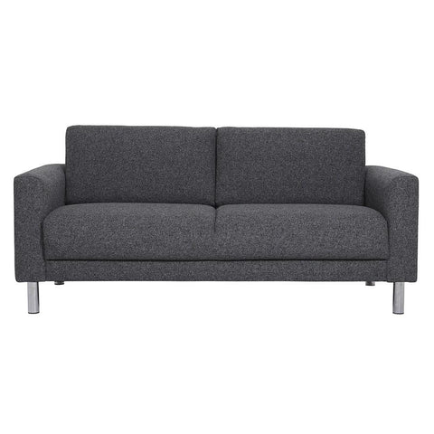 Cleveland 2 Seater Fabric Sofa - Dark Grey