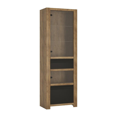 Havana 1 door 1 drawer display cabinet