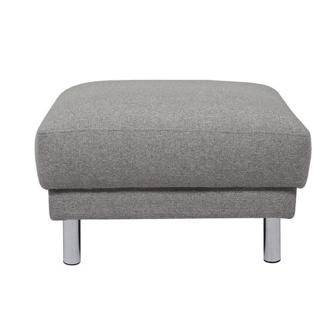 Cleveland Fabric Footstool - Light Gray