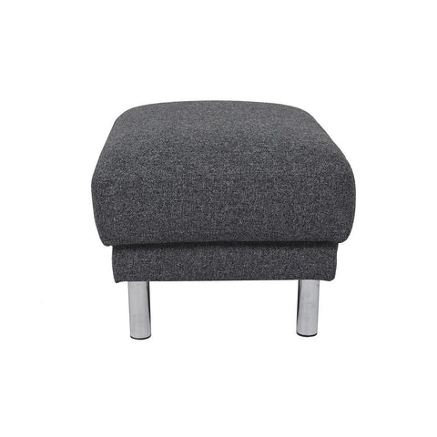 Cleveland Fabric Footstool - Dark Grey