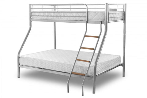 Alexa Metal Triple Bunk Bed - Silver