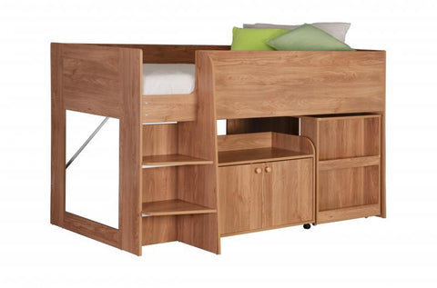 Astro Study Bunk Bed in Oak Or White Finish