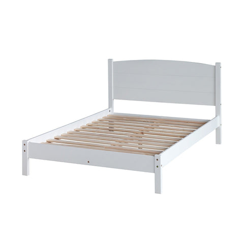 Solid Pine Slatted Lowend Double Bed