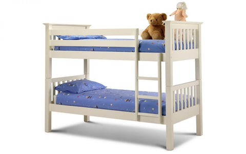 Barcelona Bunk Bed - Stone White Finish