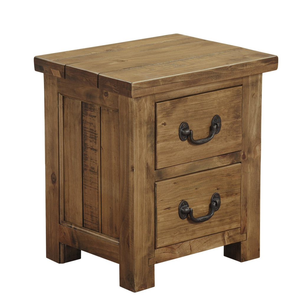 size 40 b7122 1ffb3 Cotswold Rustic Bedside Table with 2 Drawers - Assembled