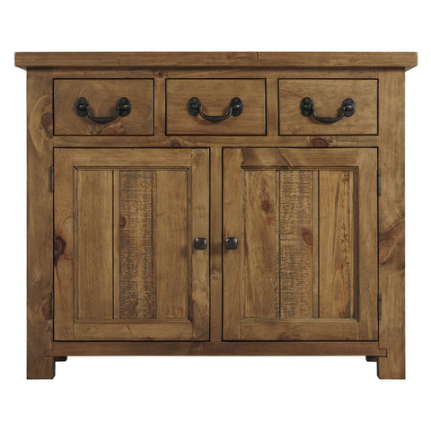 Cotswold Rustic Sideboard with 2 Door & 3 Drawers - Assembled